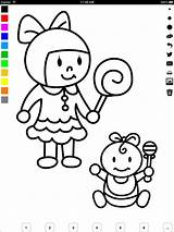 Coloring Parents Draw Learn Children sketch template