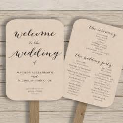 free printable wedding program fans wedding program fan template printable by hopestreetprintables