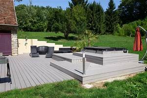 amenagement terrasse jardin digpres With superior amenagement de jardin contemporain 1 amenagement de jardin bois amp jardins