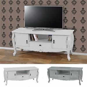 Tv Rack Weiß : tv rack barletta fernsehtisch barock 54x122x42cm creme wei oder antik wei ebay ~ Whattoseeinmadrid.com Haus und Dekorationen