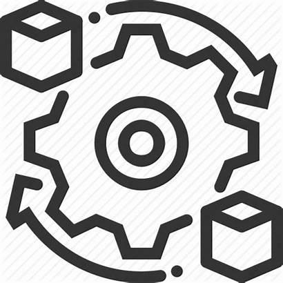 Processing Data Icon Box Refresh Cogwheel Synchronisation