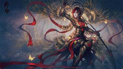 Fantasy Warrior Wallpapers Artwork Anime Female Angel