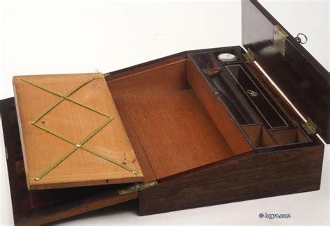 antique lap desk  portable desk  writing slope fully