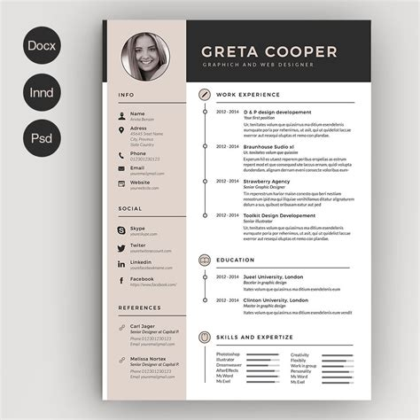 Clean Creative Resume Templates by Clean Cv Resume Ii By Estartshop On Creativemarket