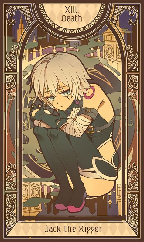 fateapocrypha tarot card anime garotos anime