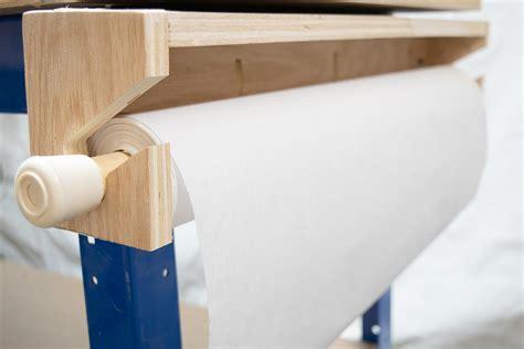 workbench paper roll dispenser buildsomethingcom