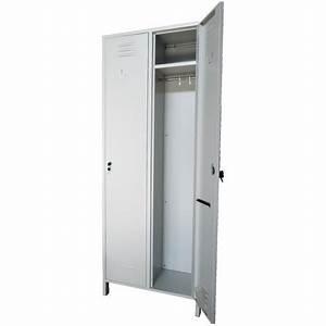 Armoire Hauteur 180 : armoire vestiaire casier m tallique 2 portes profondeur 34 cm ~ Edinachiropracticcenter.com Idées de Décoration