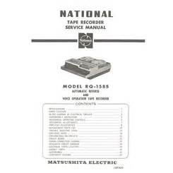 Visonik Wiring Diagram by Rq 158s National Service Manual Highqualitymanuals