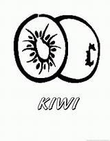 Kiwi Fruit Coloring Pages sketch template