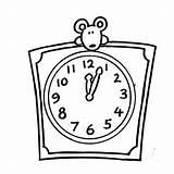 Clock Coloring Pages Alarm Mouse Peek Blank Cuadrado Reloj Digital Printable Getcolorings Antique sketch template