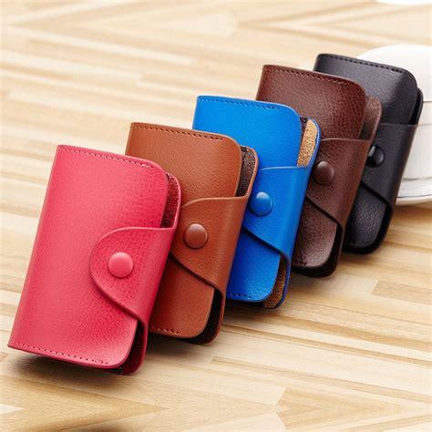 dompet kartu elegan bahan kulit kb39 brown