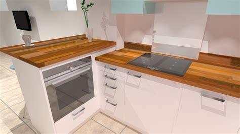 cuisine moderne blanche et bois cuisine blanche et bois à