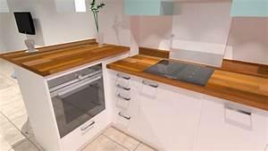 cuisine bois et pierre cuisine blanche en u avec pierre With petite cuisine en bois