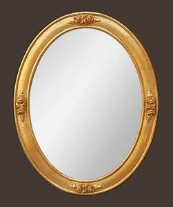 Miroir Doré Ancien : petit miroir ovale ancien bois dor decor de roses ~ Teatrodelosmanantiales.com Idées de Décoration