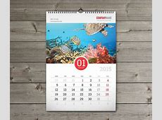 print production InDesign template for calendar printing