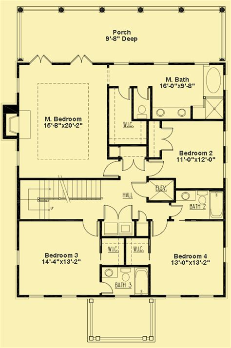 Southern Floor Plans by Three Story House Plans 5 Bedroom Colonial Style Home