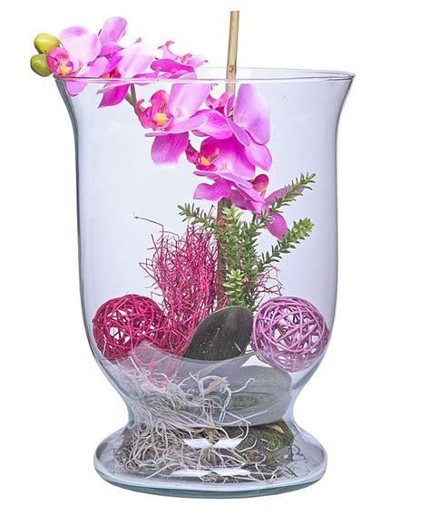 Deko Vasen Glas Deko Glas Orchidee Lila 30cm Jetzt Bestellen Bei Valentins Valentins Blumenversand