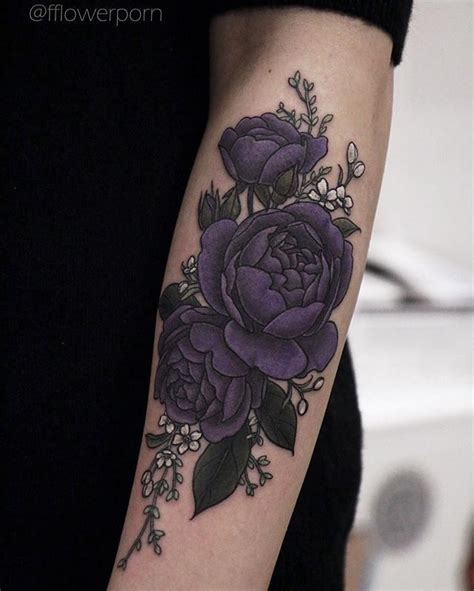 Best Purple Rose Tattoo Ideas And Images On Bing Find What You