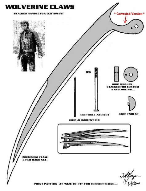 wolverine claws template wolverine claws the pattern that started it all in the library of do it yourself forum