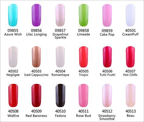 shellac nails colors shellac nail swatch colour charts