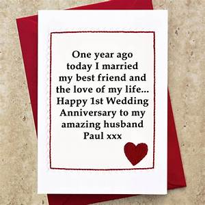 personalised 1st wedding anniversary card by jenny arnott With first wedding anniversary images