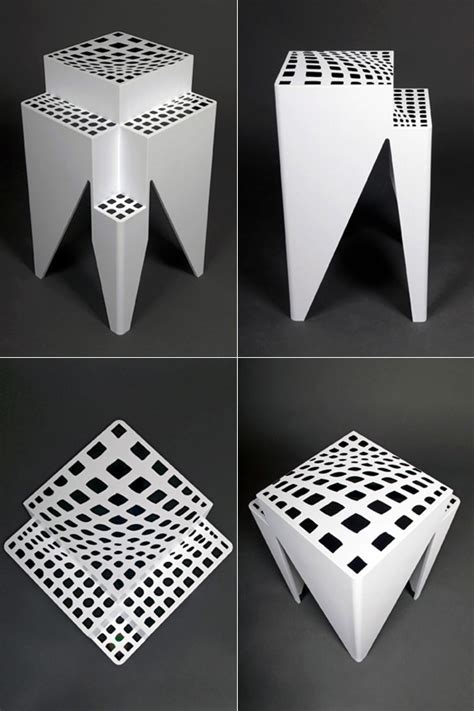 3d illusion table ls mesmerizing table yanko design