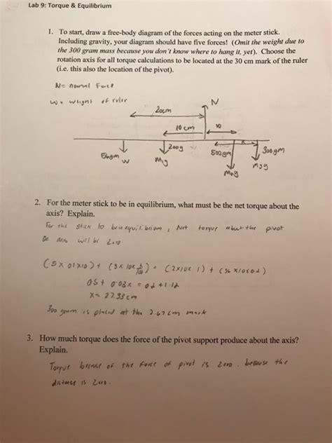 Solved Lab Torque Equilibrium Start Draw