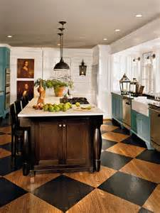 black and white tile kitchen ideas the appeal of checkerboard floors