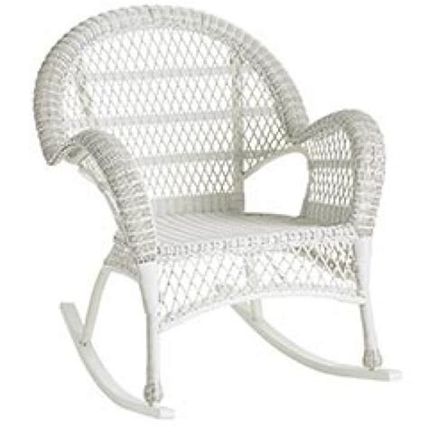 santa barbara white rattan wicker rocker chair 149 99