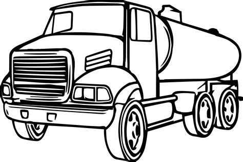 cistern truck cartoon coloring page wecoloringpagecom