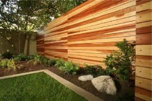 Horizontal Wood Fence Backyard Ideas