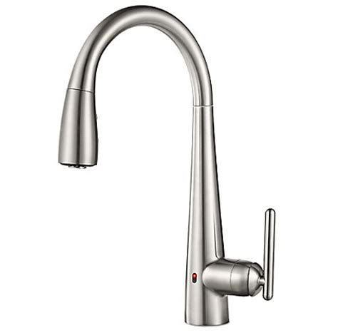 touch free kitchen faucets stainless steel lita touch free pull kitchen faucet