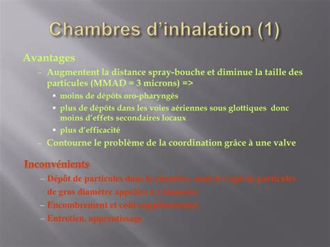 chambre d inhalation asthme ppt asthme powerpoint presentation id 1435051