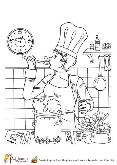 dessin d une cuisine coloriage d une cuisinière hugolescargot com
