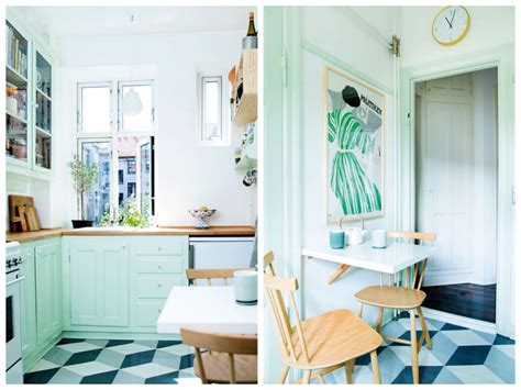 cuisine verte mur meubles electromenager blog deco