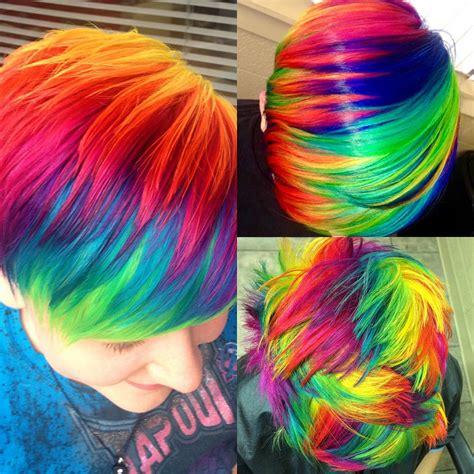 rainbow hair color tutorials ursula goff stuff