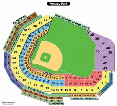 Fenway Seating Park Chart Concert Rows Sox