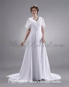 plus size sleeved wedding dress allens bridal ruffle v neck sleeve court plus size bridal gown wedding dress