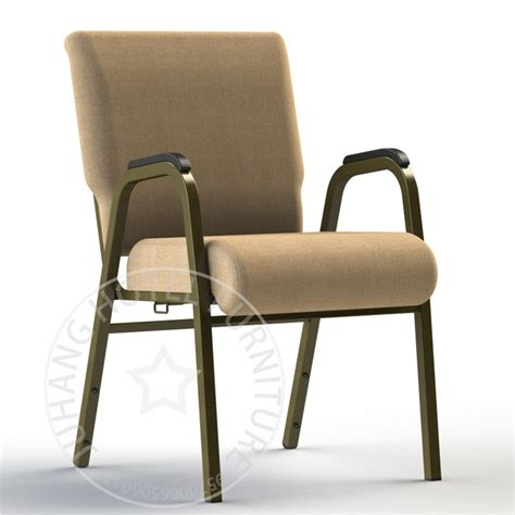 china popular wholesale steel stackable church chairs with