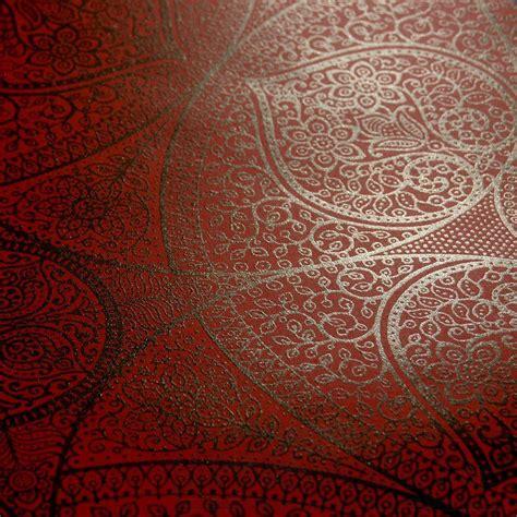 Tapete Rot Muster by Orientalisches Mandala In Rot Wohnwelten Junges Wohnen