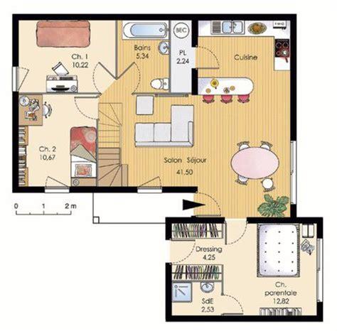 modeles cuisines contemporaines maison modulable dé du plan de maison modulable