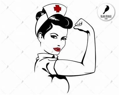 Nurse Svg Strong Woman Power Rosie Riveter