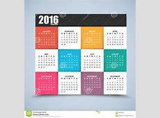 Calendar Design 2016 Year Stock Vector Image 61978765