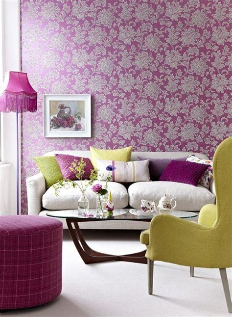 decoration murale de salon en papiers peints en couleurs