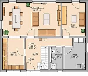 Haus Raumaufteilung Beispiele : kern haus familienhaus signum grundriss erdgeschoss ~ Lizthompson.info Haus und Dekorationen