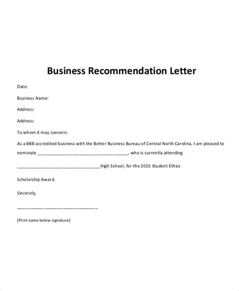 Recommendation Letter For A Company Template by 40 Recommendation Letter Templates In Pdf Free