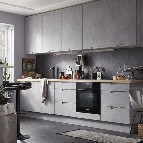 catalogue cuisine delinia meuble de cuisine décor béton delinia berlin leroy merlin