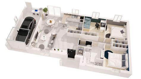 maison 3 chambres plan de maison 3 chambres en 3d maison moderne