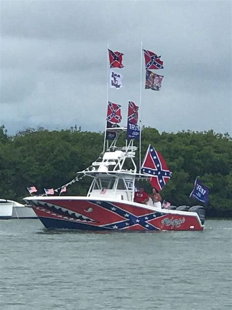 image  confederate flag trump boat posted