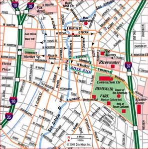 Alamo San Antonio Texas Map